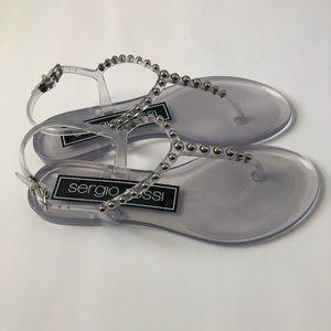 Sergio Rossi Studded Flat Sandals